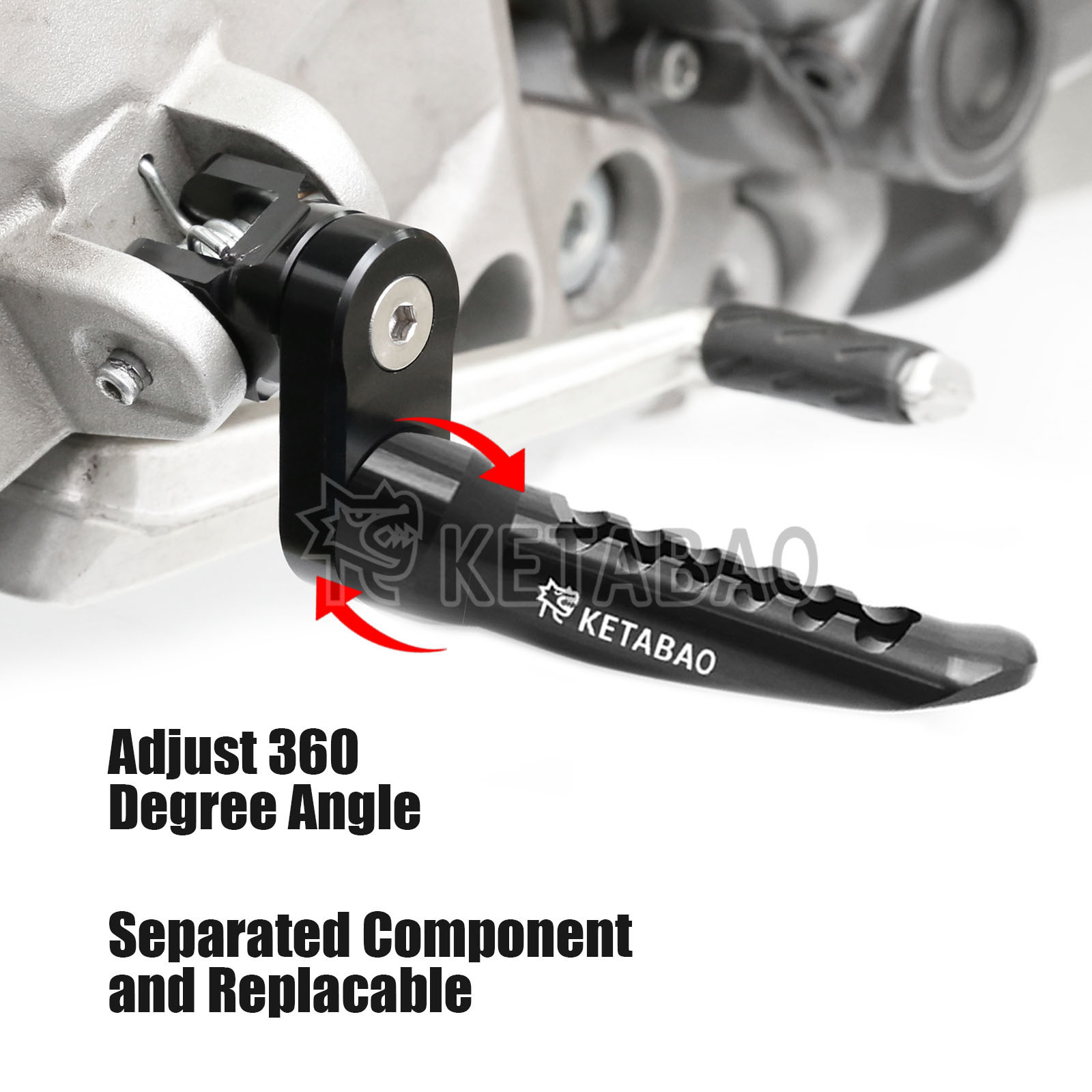 CNC Billet MGrip Front Rider Foot Pegs For Yamaha YZF R1 YZF R6 MT-10 FZ10