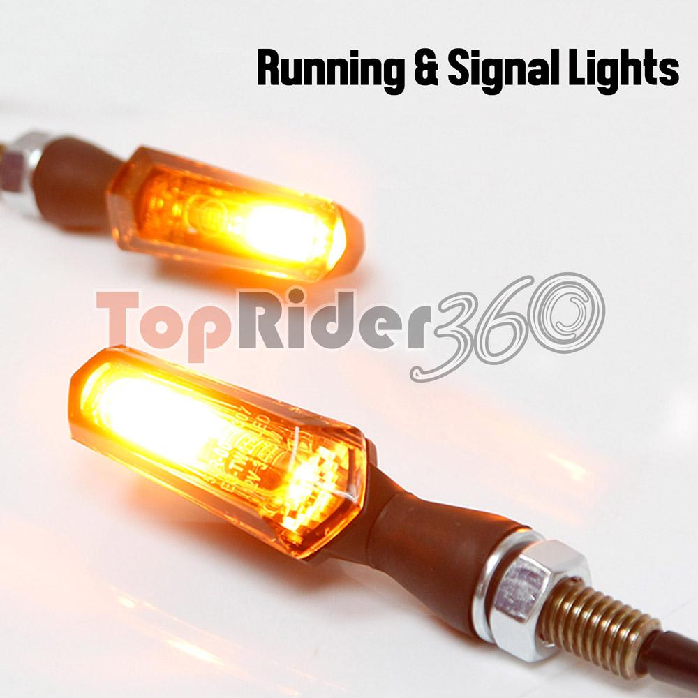 Firefly LED Brake Light /& Turn Signals Blinker Suzuki B-King Boulevard